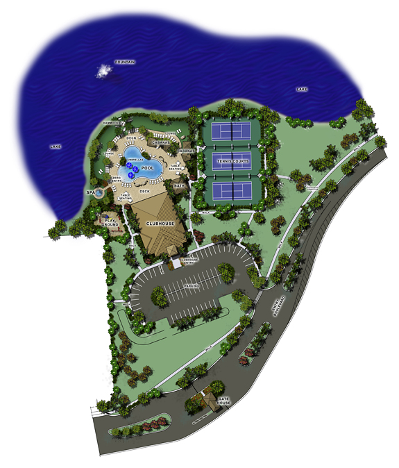 Amenity Site Plan Rendering